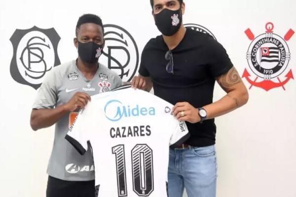 Corinthians anuncia a contratação de Cazares e novo reforço assume a camisa 10(Imagem:Divulgação)