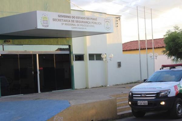 Delegacia regional de Campo Maior, no Piauí.(Imagem:Patrícia Andrade/G1)