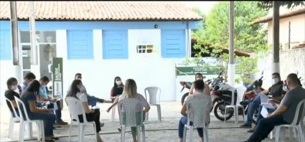 Reunião avalia os casos de Covid-19 em Floriano(Imagem:FlorianoNews)